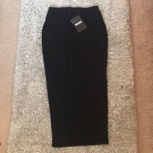 Missguided Black bodycon pencil skirt
